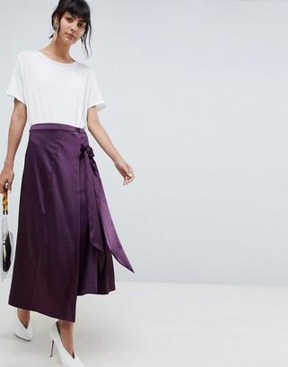 Asos midi skirt with tie detailing