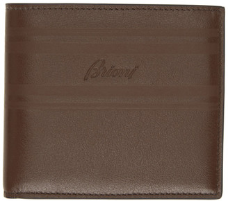 Brioni Brown Classic Bifold Wallet
