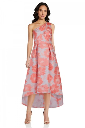 Adrianna Papell Floral Jacquard Gown