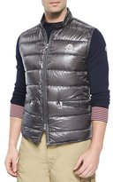 Moncler Gui Quilted Puffer Vest, Graphite