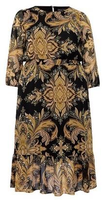 Dorothy Perkins Womens Dp Curve Yellow Paisley Midi Dress, Yellow