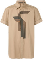 Neil Barrett printed short sleeve shirt - men - Cotton - 39
