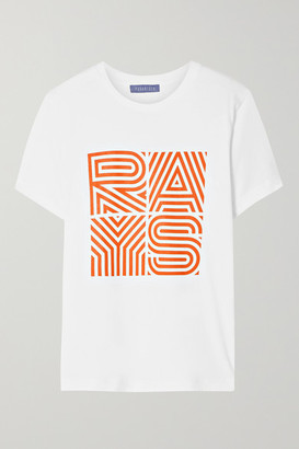 PARADISED Rays Printed Cotton-jersey T-shirt - White