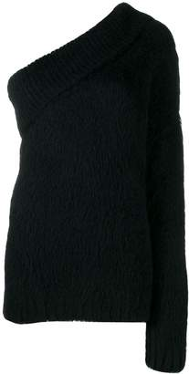 Cavallini Erika furry one sleeve sweater