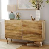 west elm Roar + RabbitTM Brass Geo Inlay 6-Drawer Dresser - Raw Mango