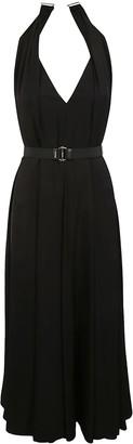Prada Sleeveless Long V-neck Dress