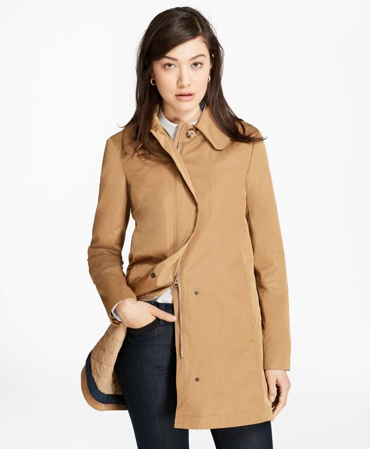Brooks Brothers Peter Pan Collar Coat