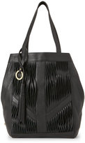 Sanctuary Black Twisted Modern Tote