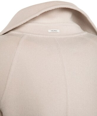 S Max Mara Doubled Pure Wool Coat W/ Belt