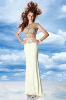 Alyce Paris - 6468 Two Piece Dress In Diamond White