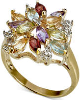 Townsend Victoria 18k Gold over Sterling Silver Ring, Multistone Cluster Ring