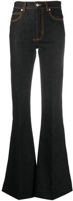 Alexander McQueen High-Waisted Flared Jeans