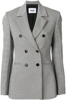 MSGM houndstooth double-breasted blazer - women - Polyester/Spandex/Elastane/Viscose/Virgin Wool - 40