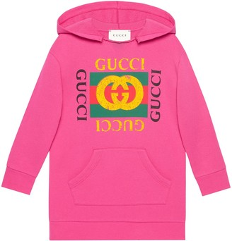Gucci Kids Children's hooded dress with Gucci logo