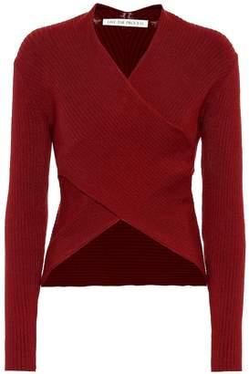 Live The Process V Wrap Knit cotton-blend sweater