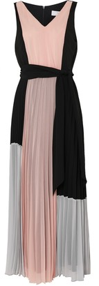 Wallis PETITE Colourblock Pleat Maxi Dress