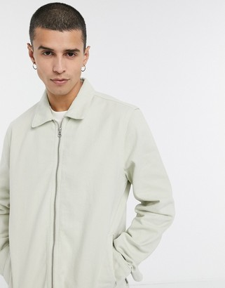 ASOS DESIGN denim jacket in off white