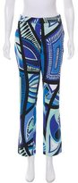 Emilio Pucci Abstract Print Straight-Leg Pants