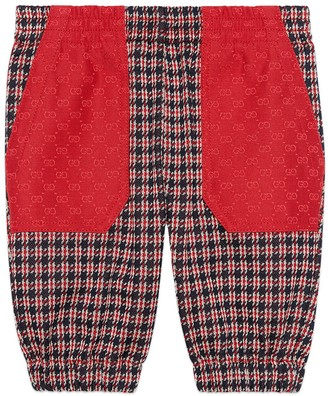 Gucci Baby Houndstooth cotton trousers