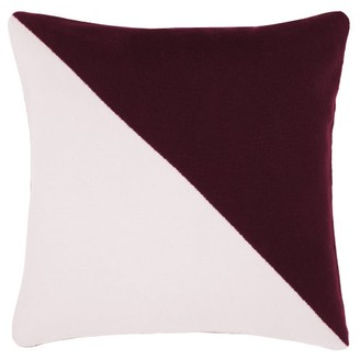 Allude Buttoned Two-tone Cashmere Cushion - Pink Multi