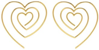 Y/Project Heart-shaped spiral earrings