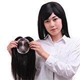 Remeehi 1013cm Straight Human Hair Topper Clip in Hair Top Piece Bangs Extensions Toupee For Thin Hair 30cm Nature Color
