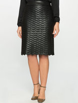 ELOQUII Plus Size Studio Quilted Faux Leather Skirt
