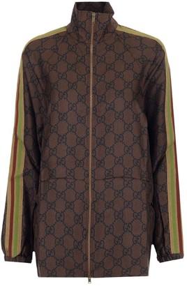 Gucci GG Supreme Print Zip-Up Jacket