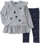 Tommy Hilfiger 2-Pc. Peplum Tunic & Star-Print Leggings Set, Baby Girls