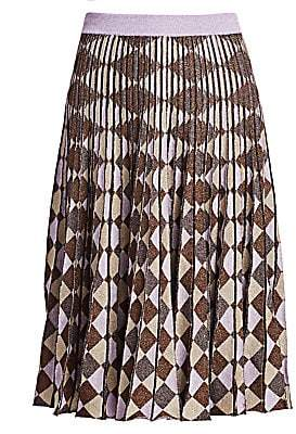 Baum und Pferdgarten Women's Cryrilla Geometric Pleated Knit Skirt