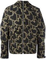Paul Smith heart print hooded jacket