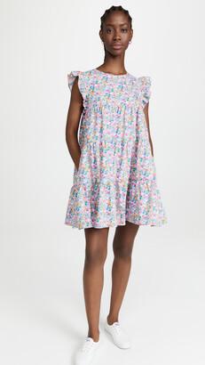 ENGLISH FACTORY Floral Print Babydoll Dress