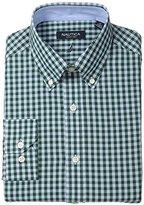 Nautica Men's Regular Fit Oversize Gingham Dress Shirt