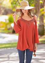 Together Cold Shoulder Lace Top