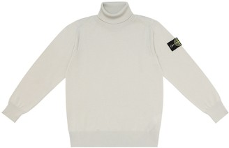 Stone Island Junior Wool turtleneck sweater
