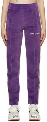 Palm Angels Purple Chenille Track Pants