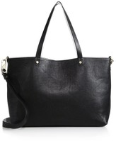 Luana Italy Carlyle Reversible Saffiano Leather & Pebbled Leather Tote