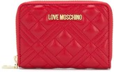 Love Moschino logo quilted wallet