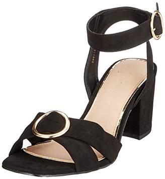 New Look Women's 5981189 Open Toe Heels, (Black 1), 7 (40 EU)