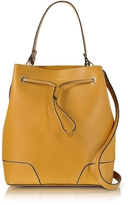 Furla Stacy Saffron Leather Bucket Bag