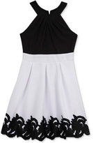 Rare Editions Lace-Trim Halter Dress, Big Girls (7-16)