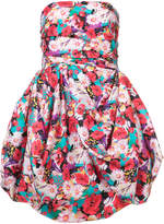 Ungaro floral print strapless dress