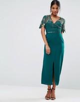 Virgos Lounge Wrap Front Embellished Midi Dress