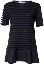 Akris Punto layered striped T-shirt - women - Cotton - 4