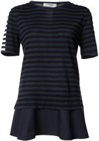 Akris Punto layered striped T-shirt