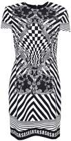 Versus Optical Illusion Logo Band Dress