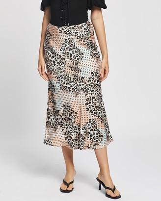 Glamorous Women's Neutrals Midi Skirts - Midi Slip Skirt - Size 8 at The Iconic