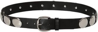 Alberta Ferretti 30mm Studded Leather Belt