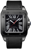 Cartier Santos 100 WSSA0006 Men's Black Stainless Steel Automatic Watch