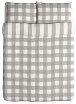 Ikea Emmie Ruta Duvet Cover and Pillowcases, Full/Queen, Gray